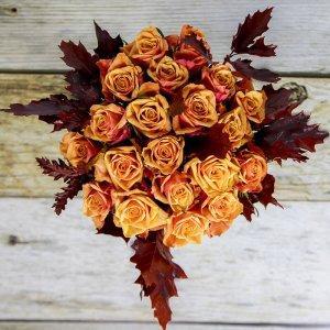 Šopek iz oranžnih vrtnic