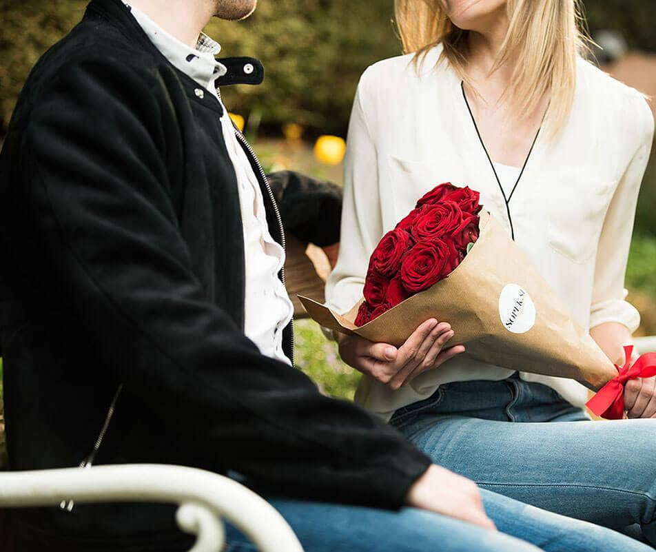 Dostava šopka rdeče vrtnice