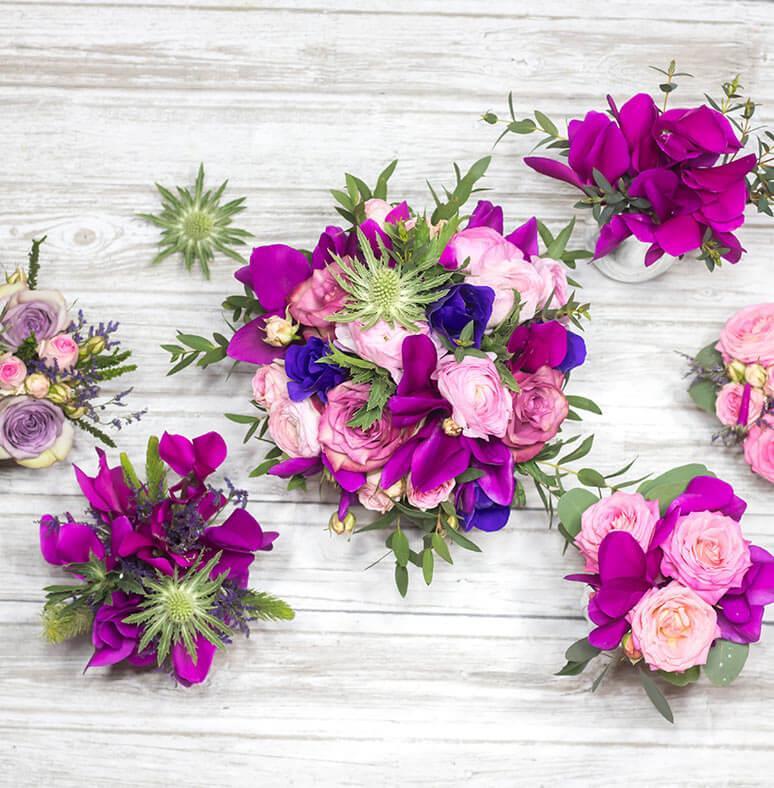 sopek za poroke iz Ciklam ,Ranunkul, Anemon, Vrtnic in eringiuma